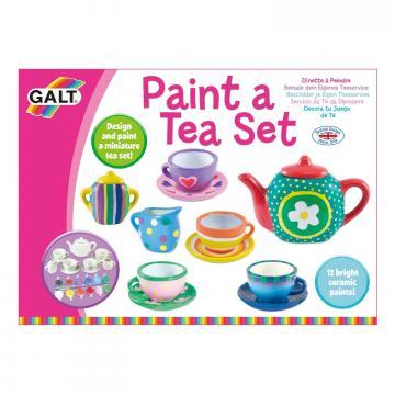 Joc set ceramica: Picteaza un set de ceai