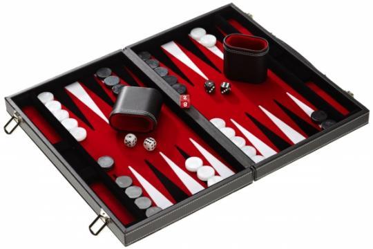 Set joc table Backgammon in stil Casino Compact 38x47 cm de la Chess Events Srl