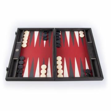 Set joc table / backgammon piele model Burgundy Red de la Chess Events Srl