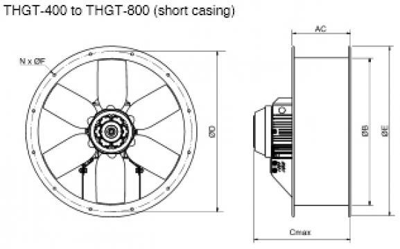 Ventilator 2 poli THGT2-500-6/17
