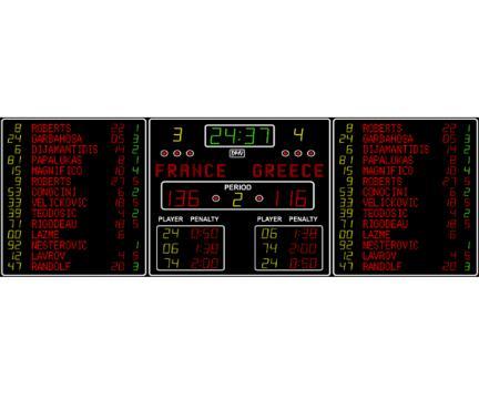 Tabela electronica multisport LS-FIBA