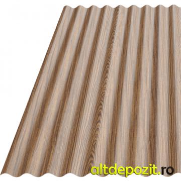 Tabla ondulata vopsita Wood S18 de la Altdepozit Srl