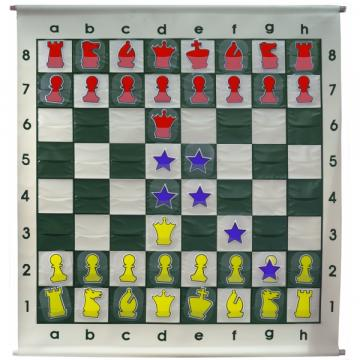 Tabla de demonstratie sah Big - FG 100mm, rulabila, cu fante de la Chess Events Srl