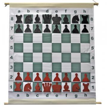 Tabla sah de demonstratie magnetica care se ruleaza de la Chess Events Srl