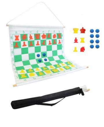 Tabla sah de demonstratie magnetica, rulabila, Didactica de la Chess Events Srl