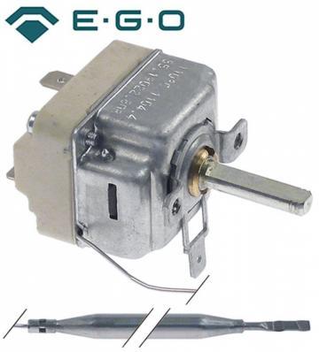 Termostat reglabil 31-110C, 1NO, 16A, bulb 6mmx133mm