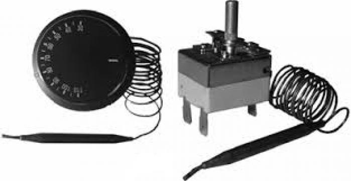 Termostat reglabil 50-300*C, 1pol, 15A, bulb 4mm x 100mm