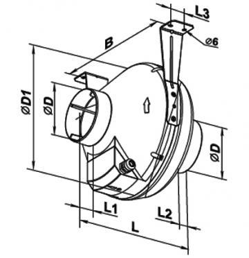 Ventilator centrifugal VK 125
