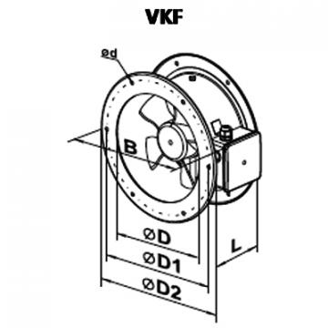 Ventilator axial VKF 4E 350
