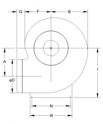 Ventilator centrifugal mediu coroziv MBP 28 T2 1