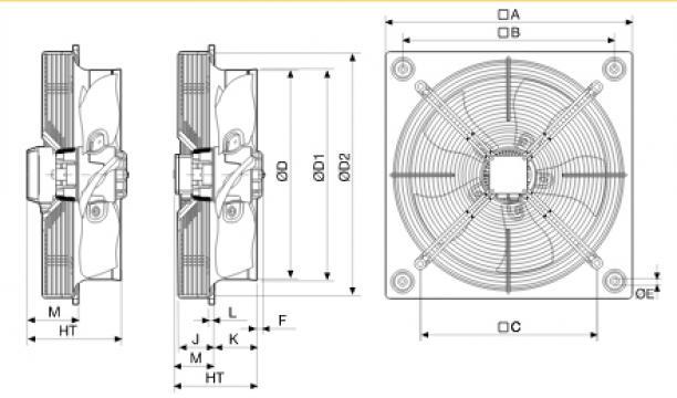 Ventilator axial HXTR/6-630 de la Ventdepot Srl