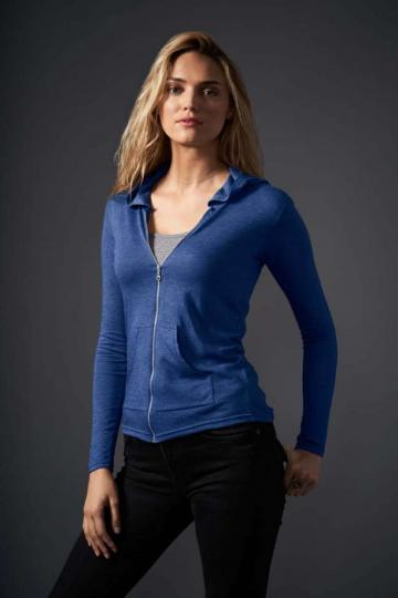 Bluza Women's Tri-Blend Full-Zip Hooded Jacket