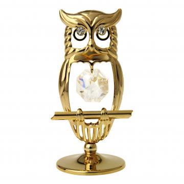 Figurina Bufnita cu cristale Swarovski de la Luxury Concepts Srl