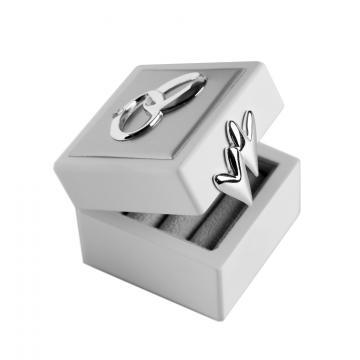 Casetuta argintata pentru verighete Lovely Rings