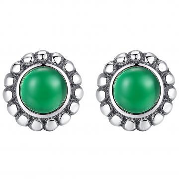 Cercei argint Royal Emerald de la Luxury Concepts Srl