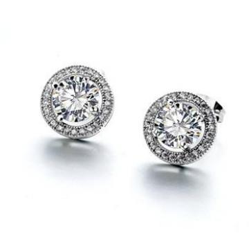 Cercei cu cristale Round Diamond