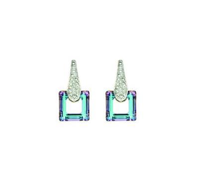 Cercei cu cristale Swarovski aqua Modern Times de la Luxury Concepts Srl