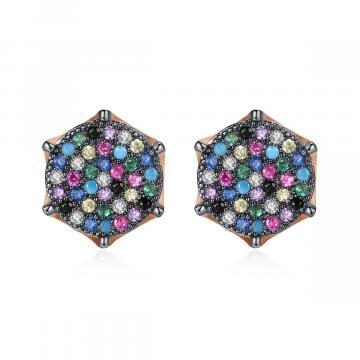 Cercei cu cristale multicolore Dianne