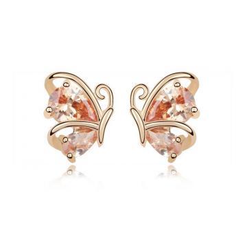 Cercei placati cu aur - Honey Gold de la Luxury Concepts Srl