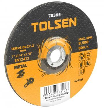 Disc abraziv cu centru coborat (metal) 125x6x22 mm de la Micul Gospodar