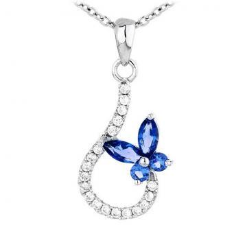 Martisor pandantiv din argint 925 Lovely Butterfly de la Luxury Concepts Srl
