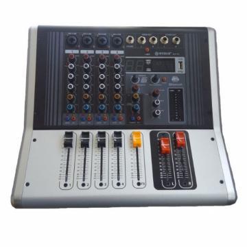 Mixer audio profesional cu amplificare, 4 intrari microfon