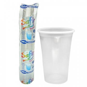 Pahare plastic 400 CC, 50 buc/set