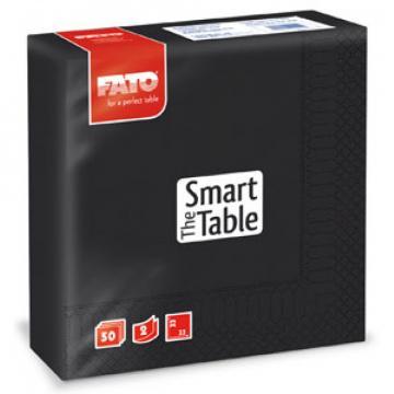 Servetele 33x33 cm, 2 straturi, Smart Table Black, Fato