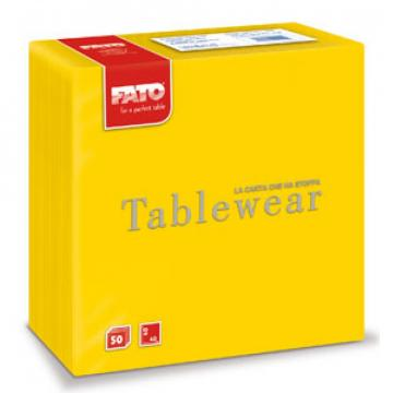 Servetele din airlaid 40x40 cm, Yellow, Fato