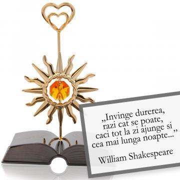 Figurina decor Shakespeare Despre optimism - citat Swarovski