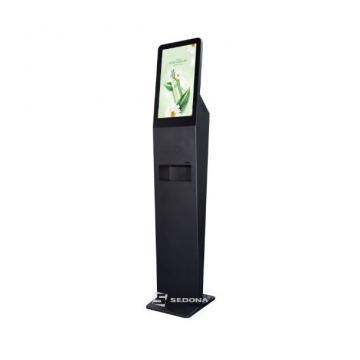 Infokiosk touchscreen DSD2150AF cu dispenser dezinfectant de la Sedona Alm