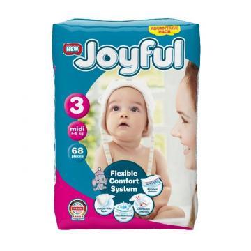 Scutece copii Joyful, 272 buc/set, marime 3, Midi, 4-9 kg de la Europe One Dream Trend Srl