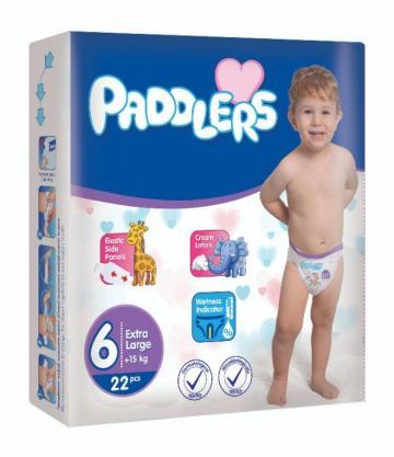 Scutece copii Paddlers, marime 6, 76 buc/set, X Large, +15kg de la Europe One Dream Trend Srl
