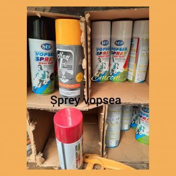 Sprayuri diferite culori si nuante cu vopsea auto de la Emcom Invest Serv Srl