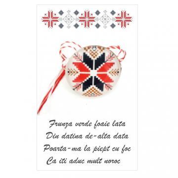 Martisor brosa Motive Drag de Traditii (ABP06-AT11) de la Eos Srl (www.martisoare-shop.ro)