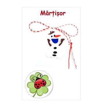 Martisor Frozen Olaf pe cartonas (APC23-AT08) de la Eos Srl (www.martisoare-shop.ro)