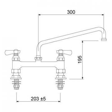 Baterie cu doi robineti 549850 de la Kalva Solutions Srl