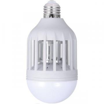 Bec LED antiinsecte cu lampa UV si capcana pentru tantari