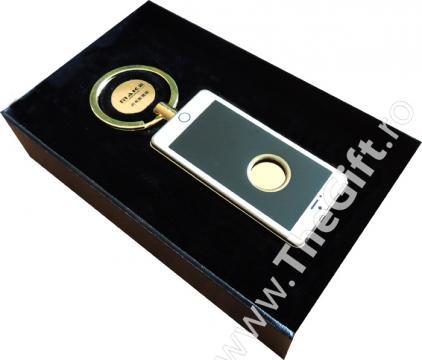 Bricheta breloc, anti vant USB, in forma de iPhone, cu led