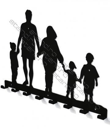 Cuier metalic Plimbare In Familie 4233 de la Rolix Impex Series Srl