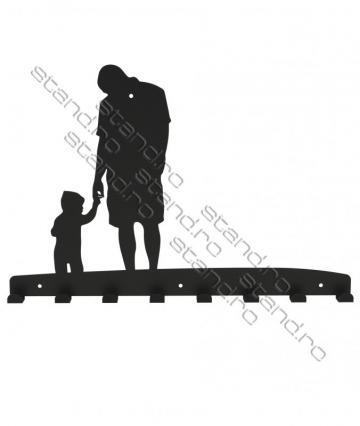 Cuier metalic Tata cu copil - 4235 de la Rolix Impex Series Srl