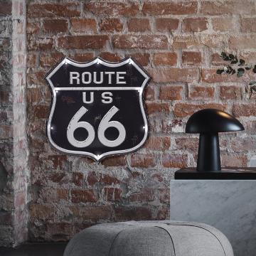 Decoratiune de perete cu led-uri si senzor atingere-Route 66 de la Plasma Trade Srl (happymax.ro)