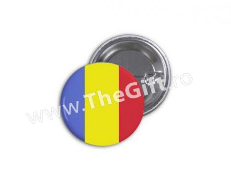 Insigna rotunda, tricolorul Romaniei