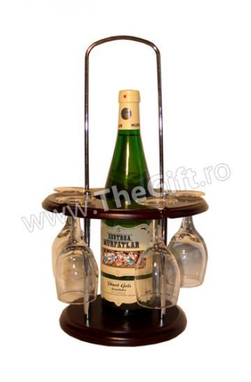 Minibar cu o sticla si cinci pahare de la Thegift.ro - Cadouri Online
