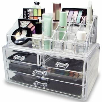 Organizator de cosmetice din acril transparent de la Www.oferteshop.ro - Cadouri Online