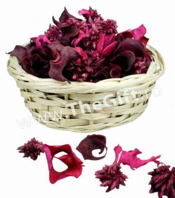 Decoratiune potpourri, trandafiri sau iasomie