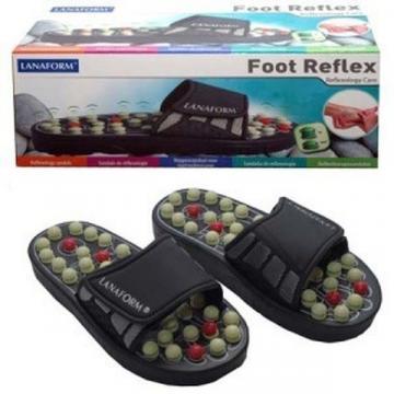 Papuci de masaj si reflexoterapie Foot Reflex Lanaform de la Www.oferteshop.ro - Cadouri Online