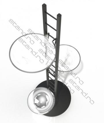 Stand expozitional cu boluri 1008 de la Rolix Impex Series Srl