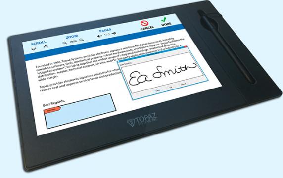 Tableta Topaz GemView 10 eSign Display-TD-LBK101VA-USB-R.SUA de la Access Data Media Service Srl
