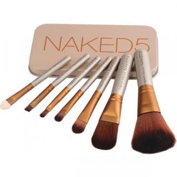 Trusa set 7 pensule pentru machiaj profesional Make-up Naked